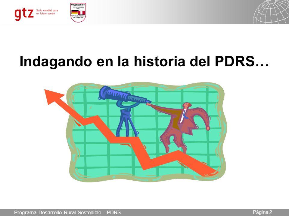 Indagando en la historia del PDRS…