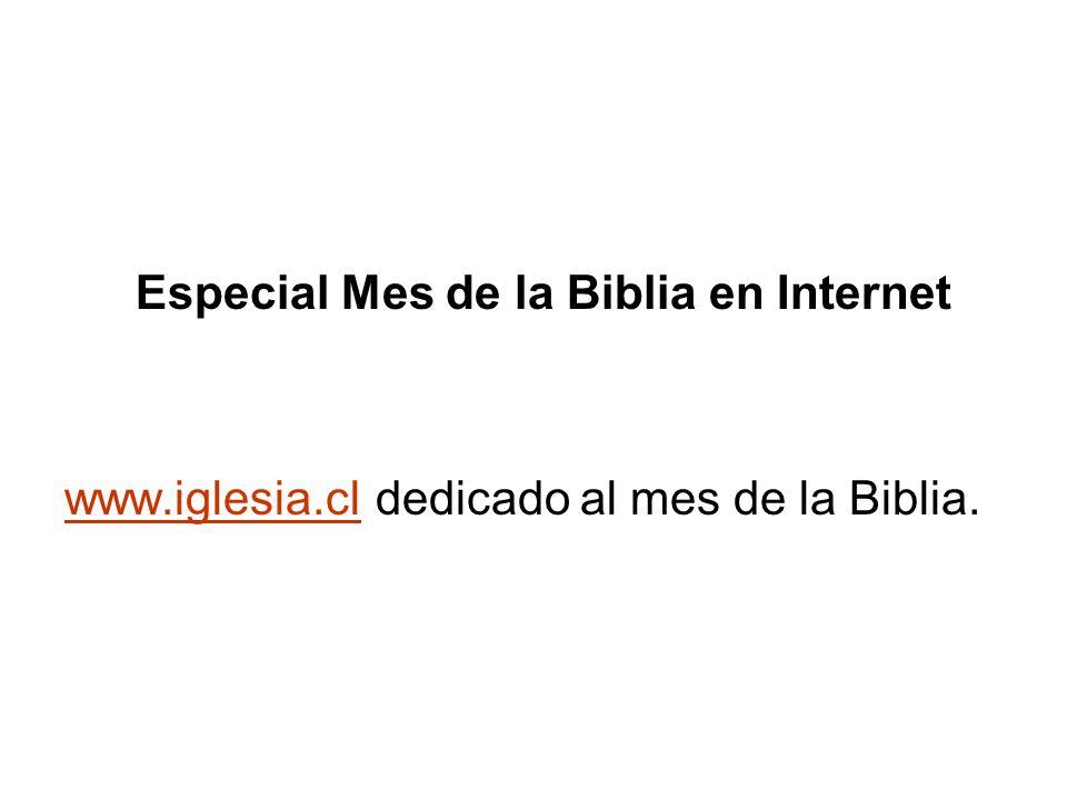 Especial Mes de la Biblia en Internet