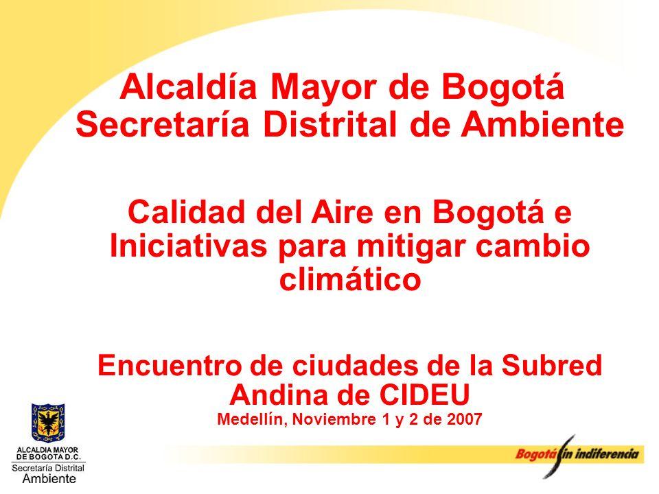 Alcaldía Mayor de Bogotá Secretaría Distrital de Ambiente