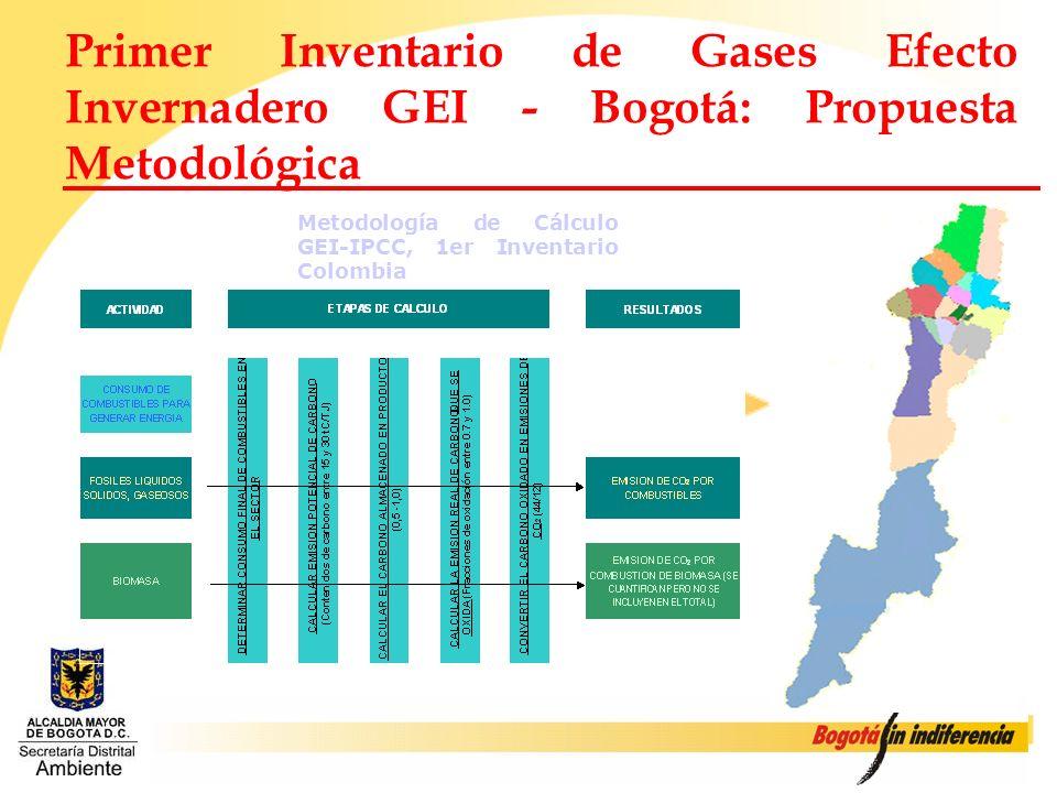 Primer Inventario de Gases Efecto Invernadero GEI - Bogotá: Propuesta Metodológica