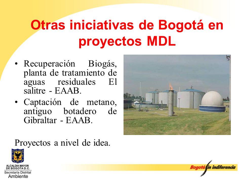 Otras iniciativas de Bogotá en proyectos MDL