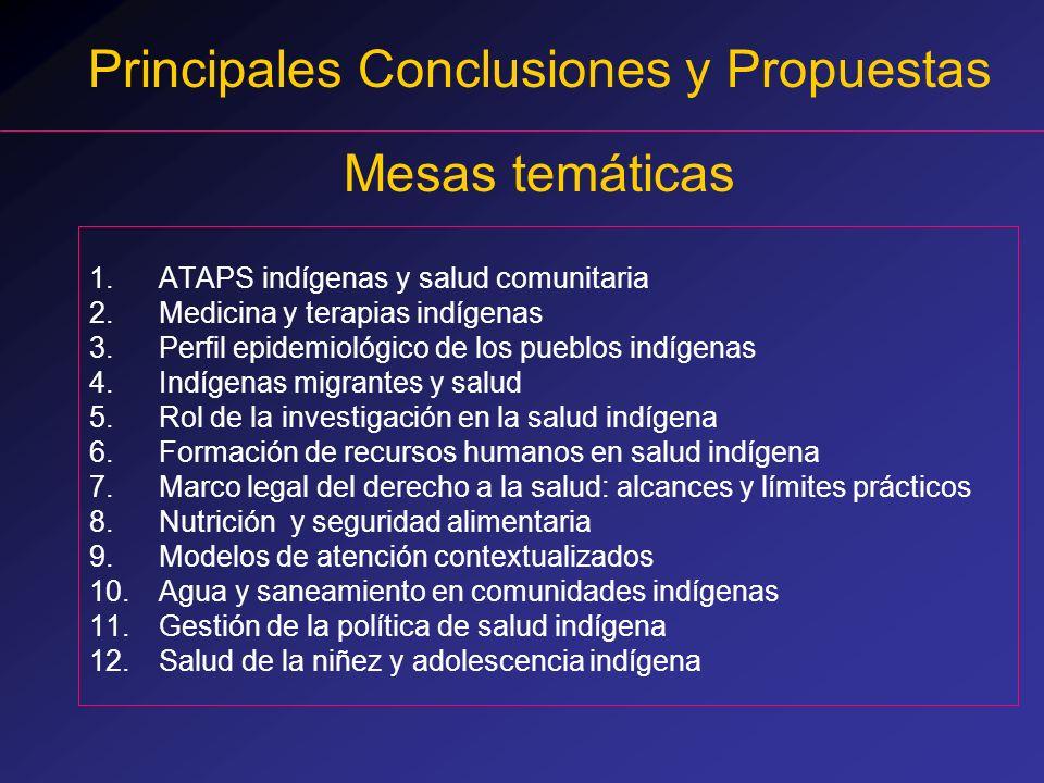 Principales Conclusiones y Propuestas