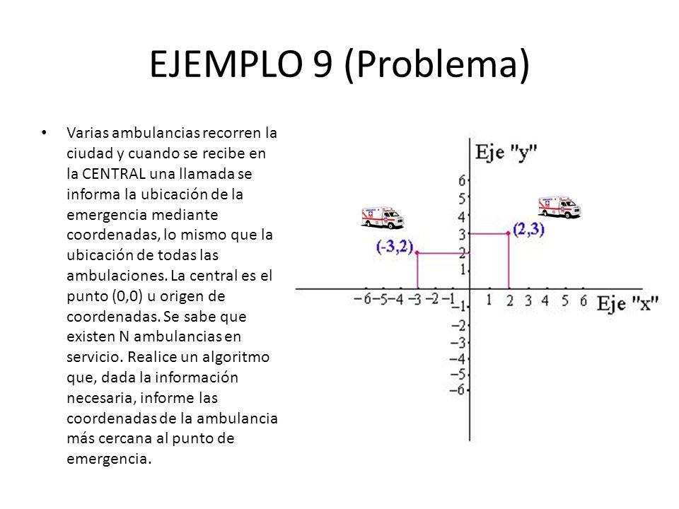 EJEMPLO 9 (Problema)