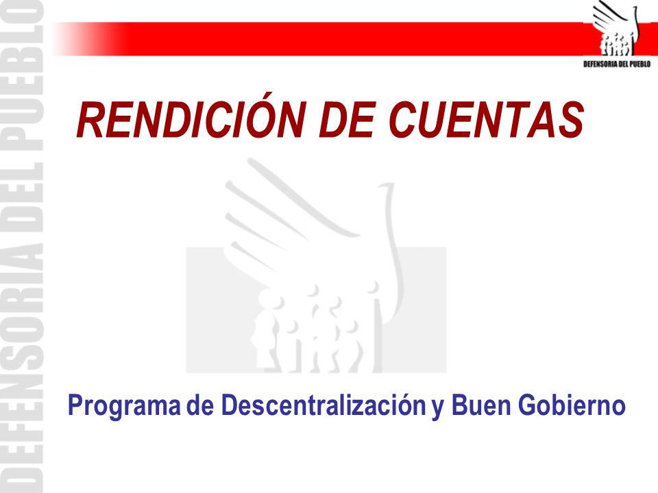 Programa de Descentralización y Buen Gobierno