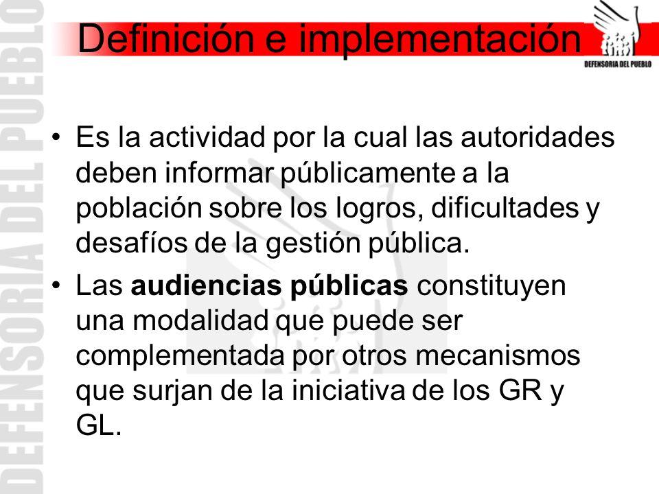 Definición e implementación