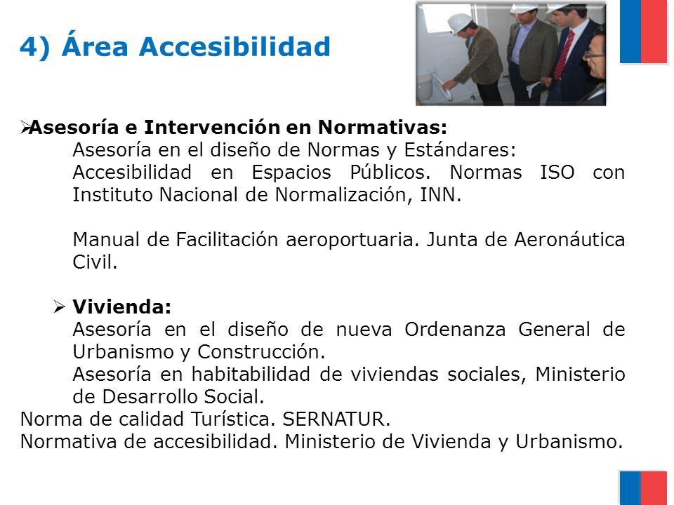 4) Área Accesibilidad Asesoría e Intervención en Normativas:
