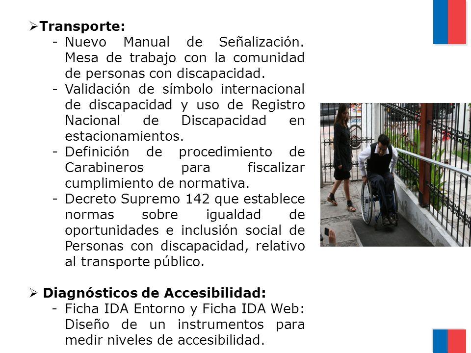 Transporte: Nuevo Manual de Señalización. Mesa de trabajo con la comunidad de personas con discapacidad.