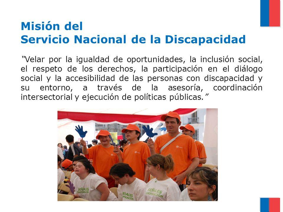Misión del Servicio Nacional de la Discapacidad