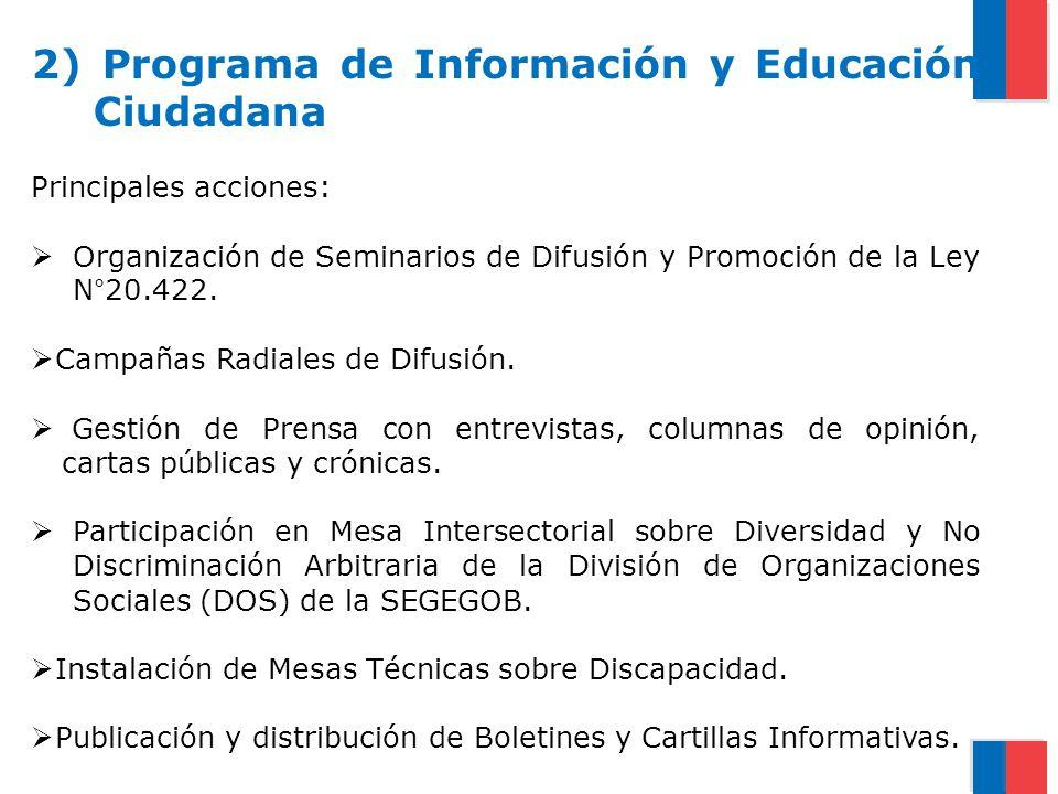 2) Programa de Información y Educación Ciudadana