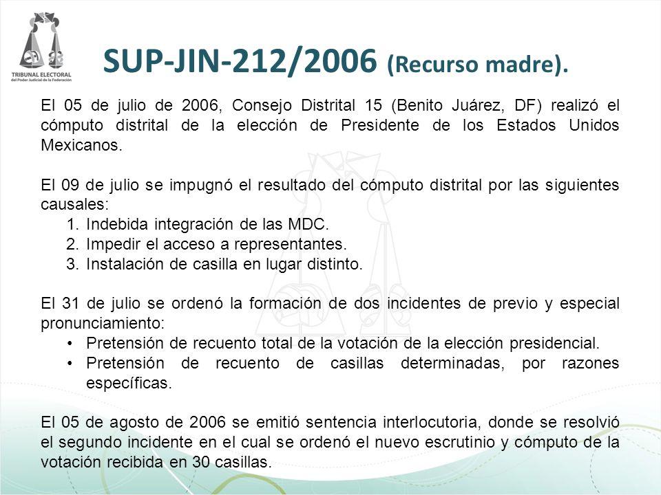 SUP-JIN-212/2006 (Recurso madre).