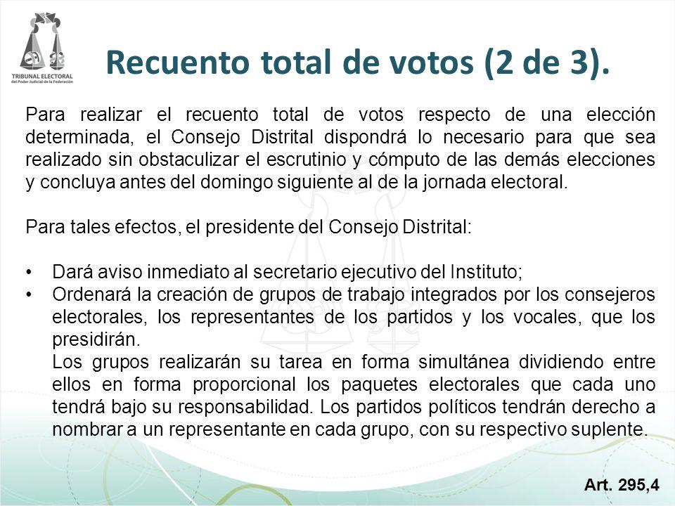 Recuento total de votos (2 de 3).