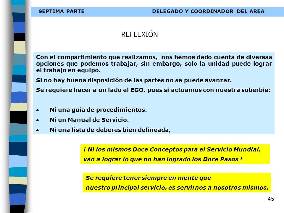 SEPTIMA PARTE DELEGADO Y COORDINADOR DEL AREA