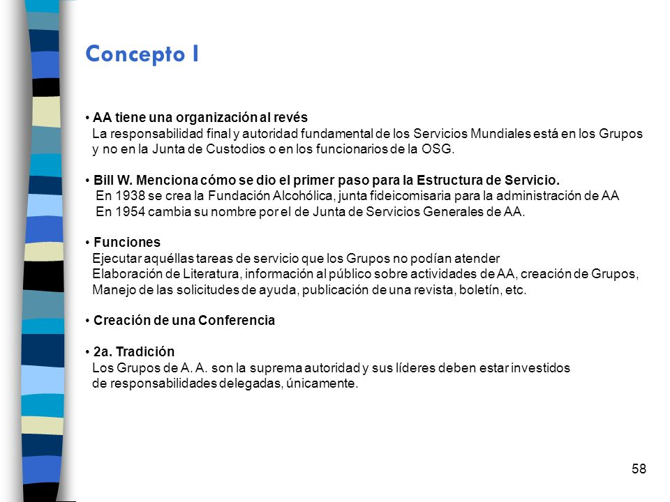 Concepto I AA tiene una organización al revés