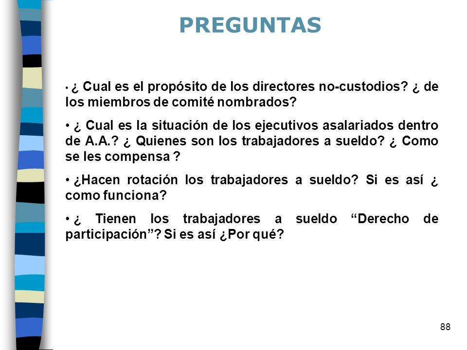 PREGUNTAS ¿ Cual es el propósito de los directores no-custodios ¿ de los miembros de comité nombrados