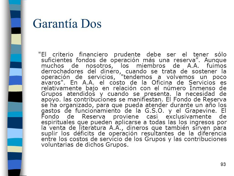Garantía Dos