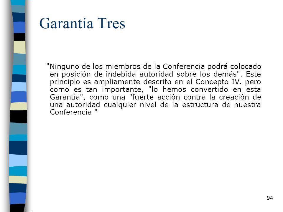 Garantía Tres