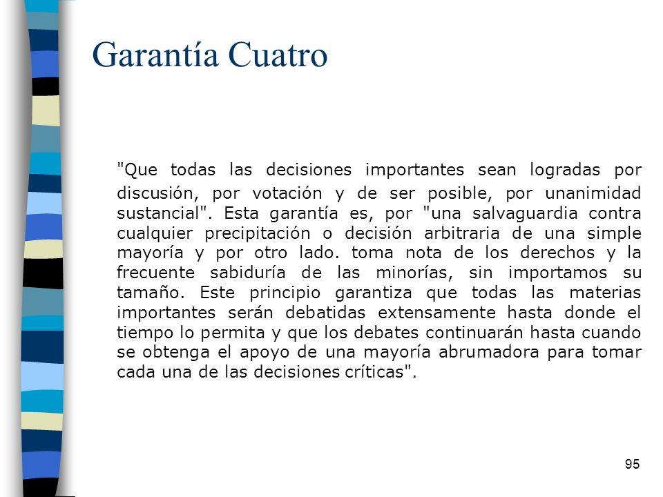 Garantía Cuatro