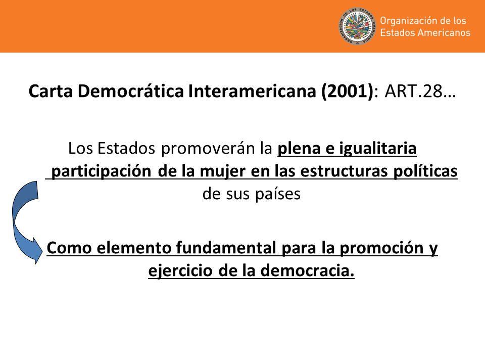 Carta Democrática Interamericana (2001): ART.28…