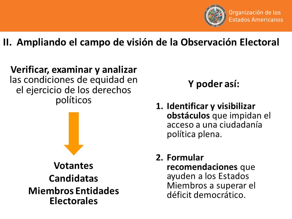 II. Ampliando el campo de visión de la Observación Electoral