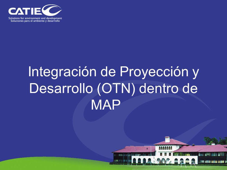 Integración de Proyección y Desarrollo (OTN) dentro de MAP