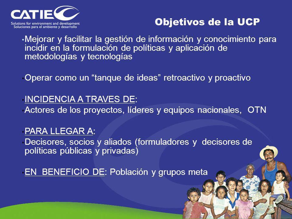 Objetivos de la UCP