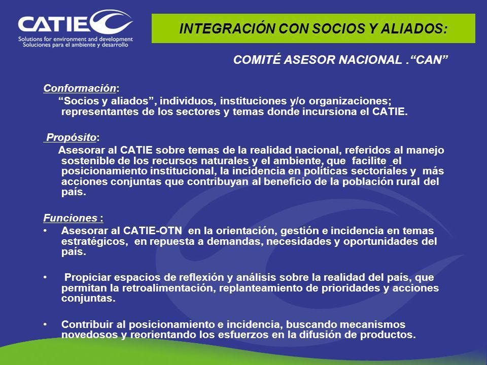 INTEGRACIÓN CON SOCIOS Y ALIADOS: