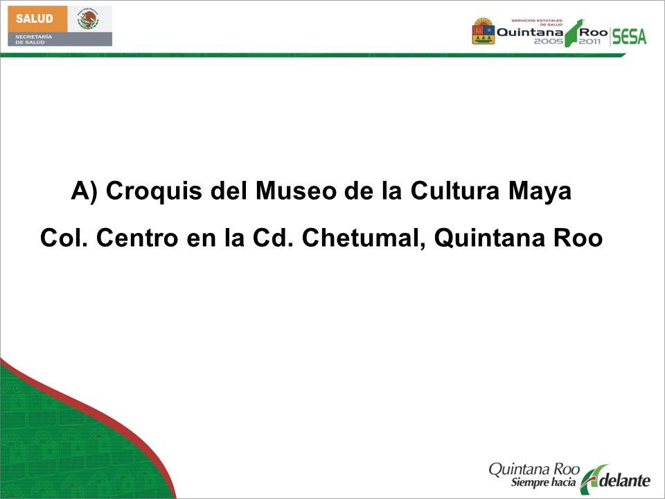 A) Croquis del Museo de la Cultura Maya