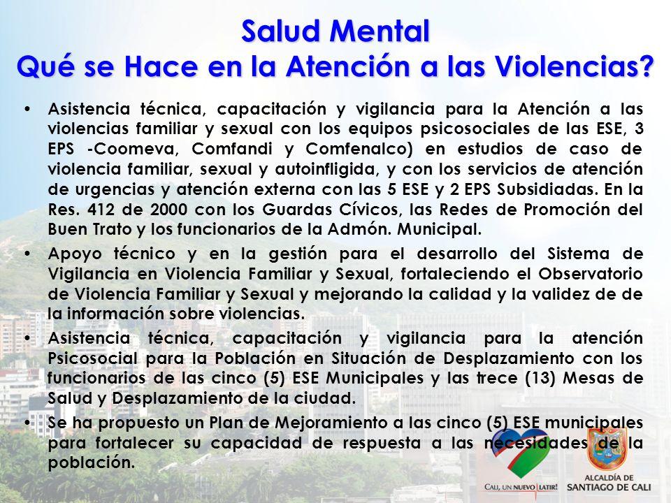 Salud Mental Qué se Hace en la Atención a las Violencias