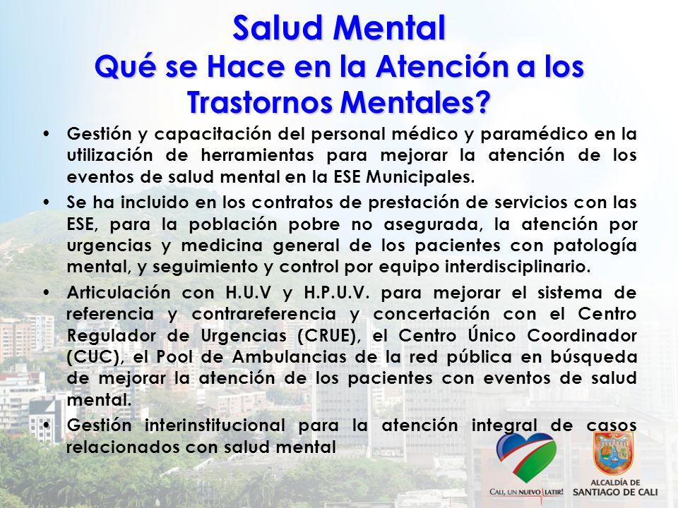 Salud Mental Qué se Hace en la Atención a los Trastornos Mentales