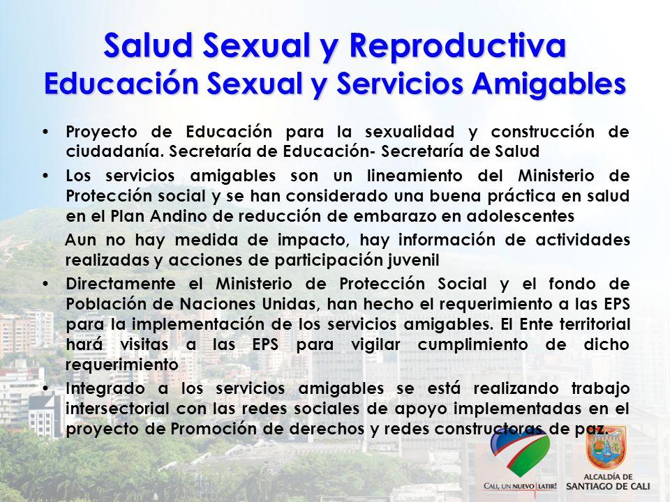 Salud Sexual y Reproductiva Educación Sexual y Servicios Amigables