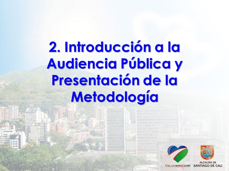 2. Introducción a la Audiencia Pública y Presentación de la Metodología