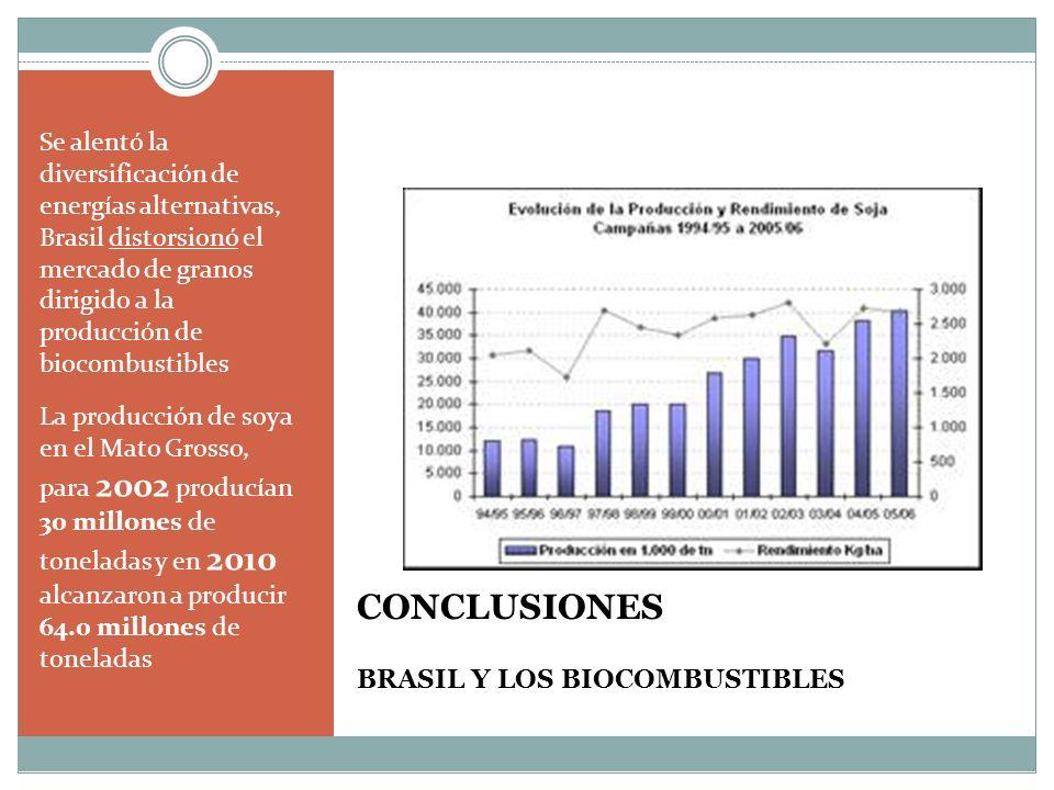CONCLUSIONES BRASIL Y LOS BIOCOMBUSTIBLES