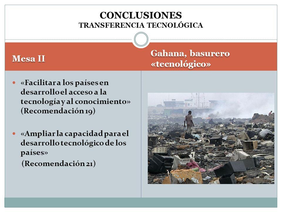 CONCLUSIONES TRANSFERENCIA TECNOLÓGICA