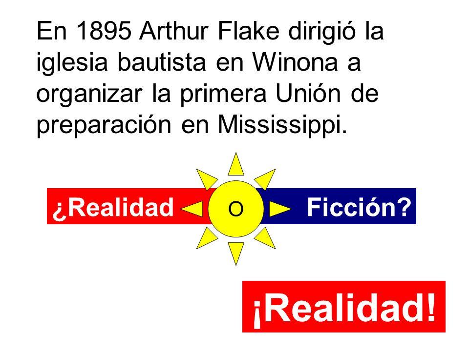En 1895 Arthur Flake dirigió la iglesia bautista en Winona a organizar la primera Unión de preparación en Mississippi.