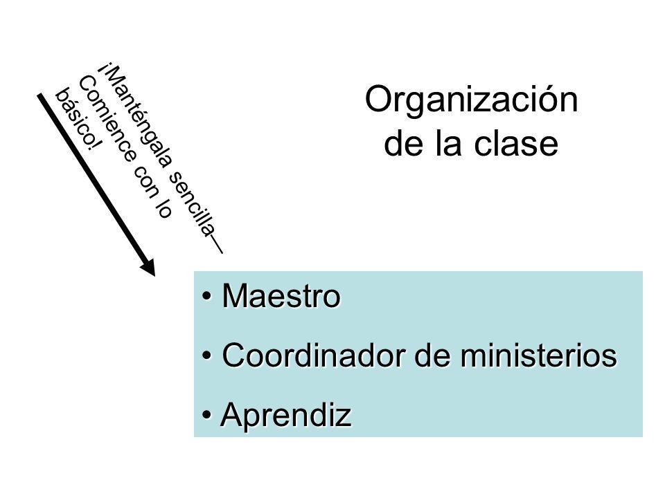 Organización de la clase