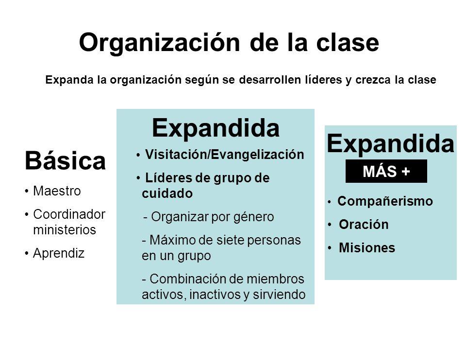 Organización de la clase Expandida Expandida