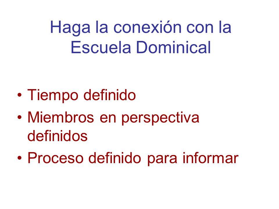 Haga la conexión con la Escuela Dominical