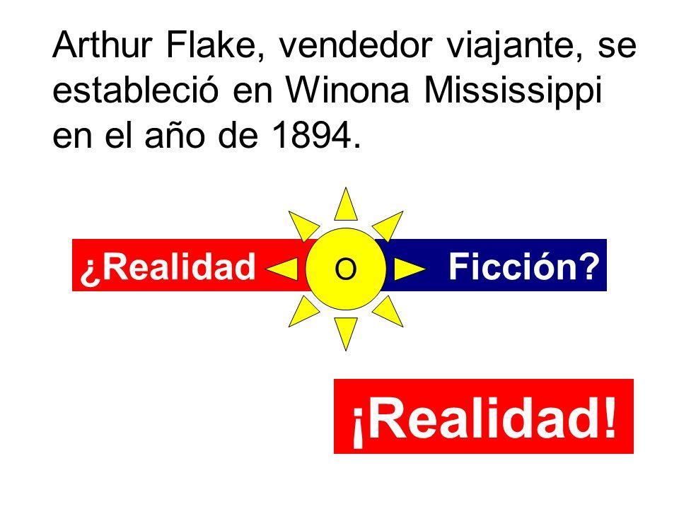 Arthur Flake, vendedor viajante, se estableció en Winona Mississippi en el año de 1894.