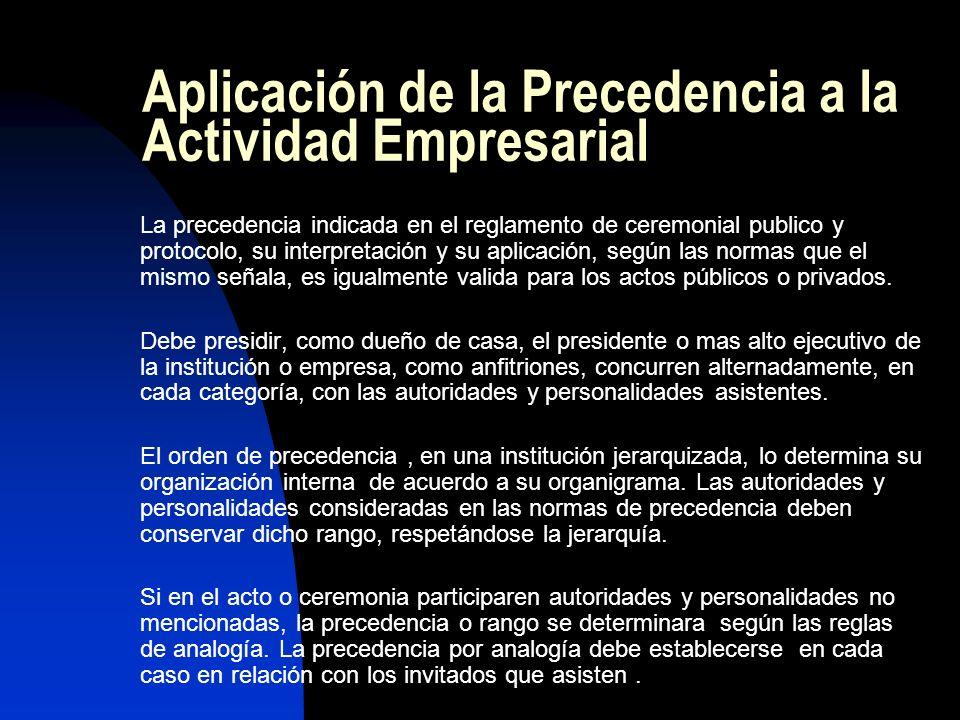 Aplicación de la Precedencia a la Actividad Empresarial