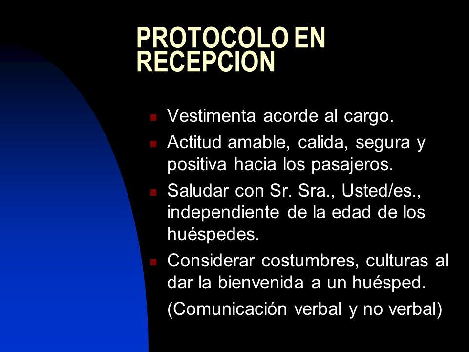 PROTOCOLO EN RECEPCION
