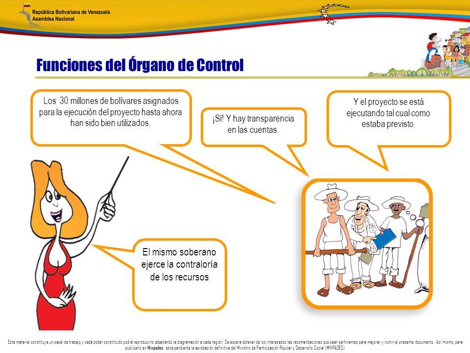 Funciones del Órgano de Control