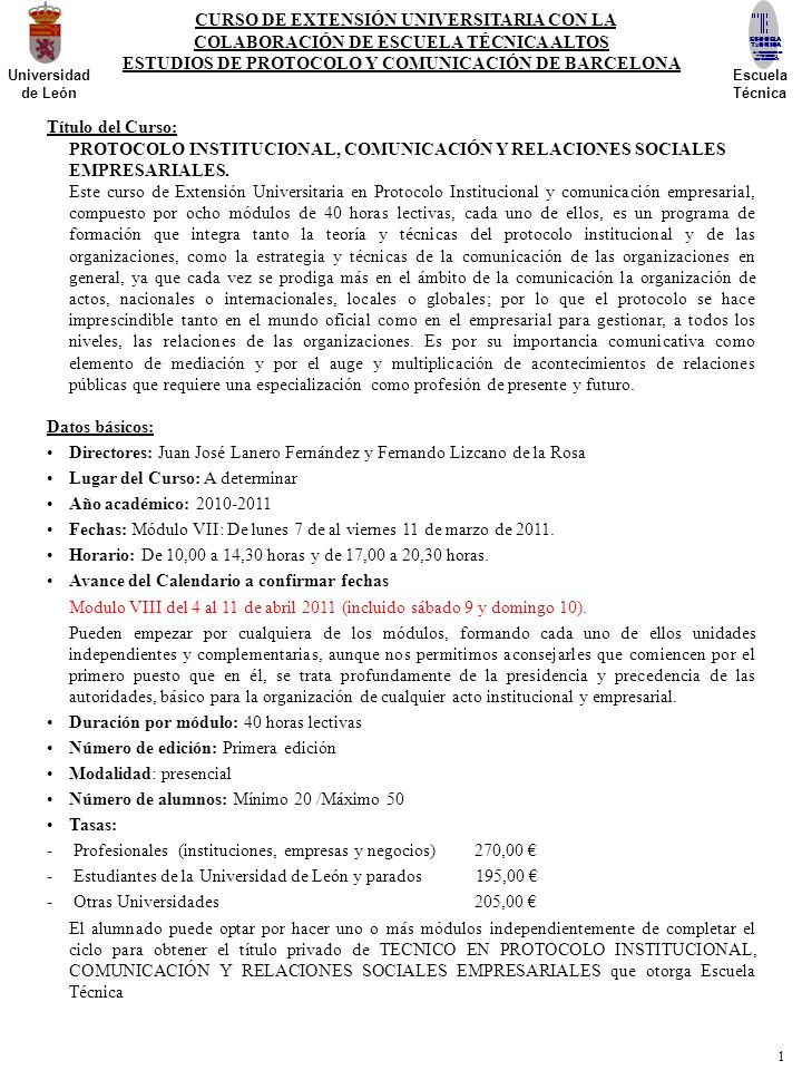 CURSO DE EXTENSIÓN UNIVERSITARIA CON LA