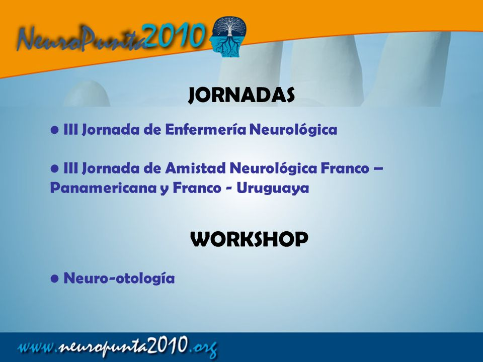 JORNADAS WORKSHOP III Jornada de Enfermería Neurológica