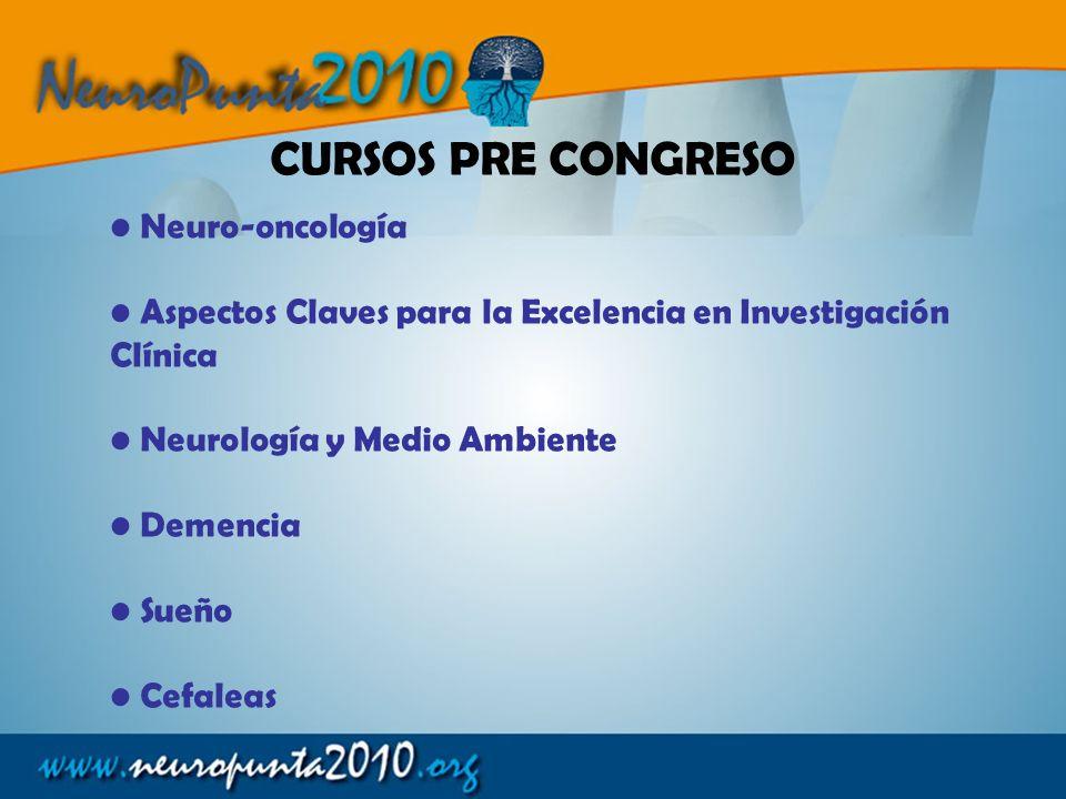 CURSOS PRE CONGRESO Neuro-oncología