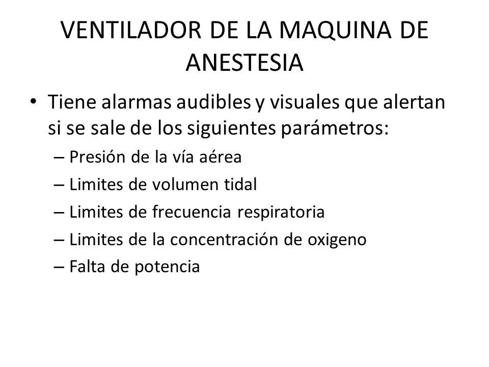 VENTILADOR DE LA MAQUINA DE ANESTESIA