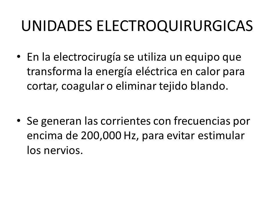 UNIDADES ELECTROQUIRURGICAS