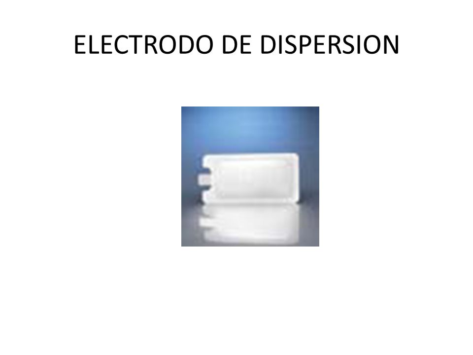 ELECTRODO DE DISPERSION