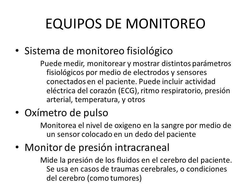 EQUIPOS DE MONITOREO Sistema de monitoreo fisiológico