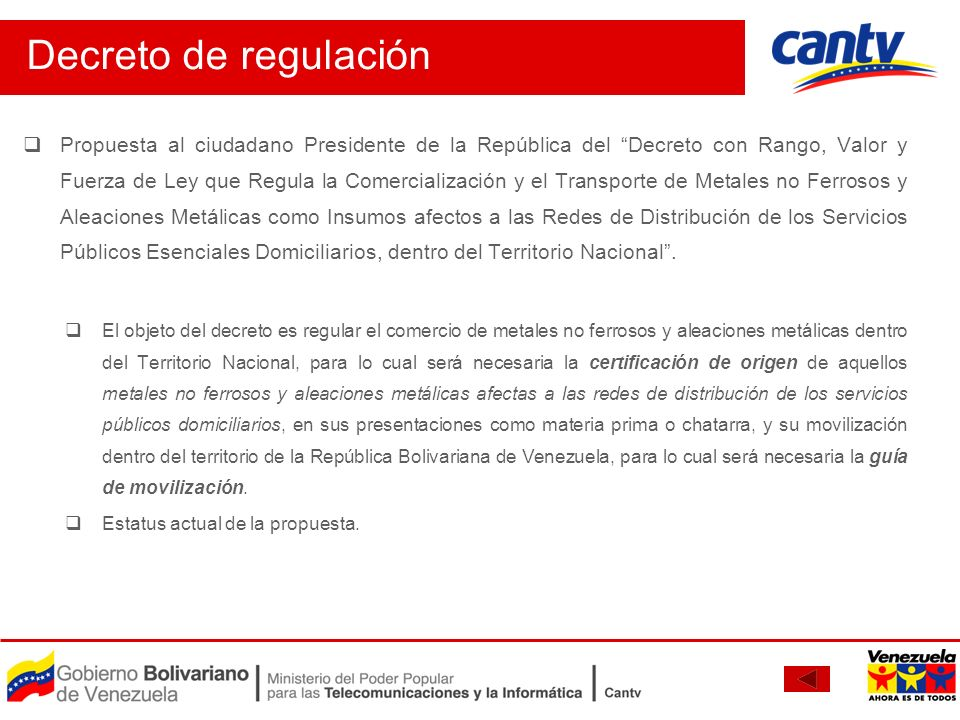 Decreto de regulación