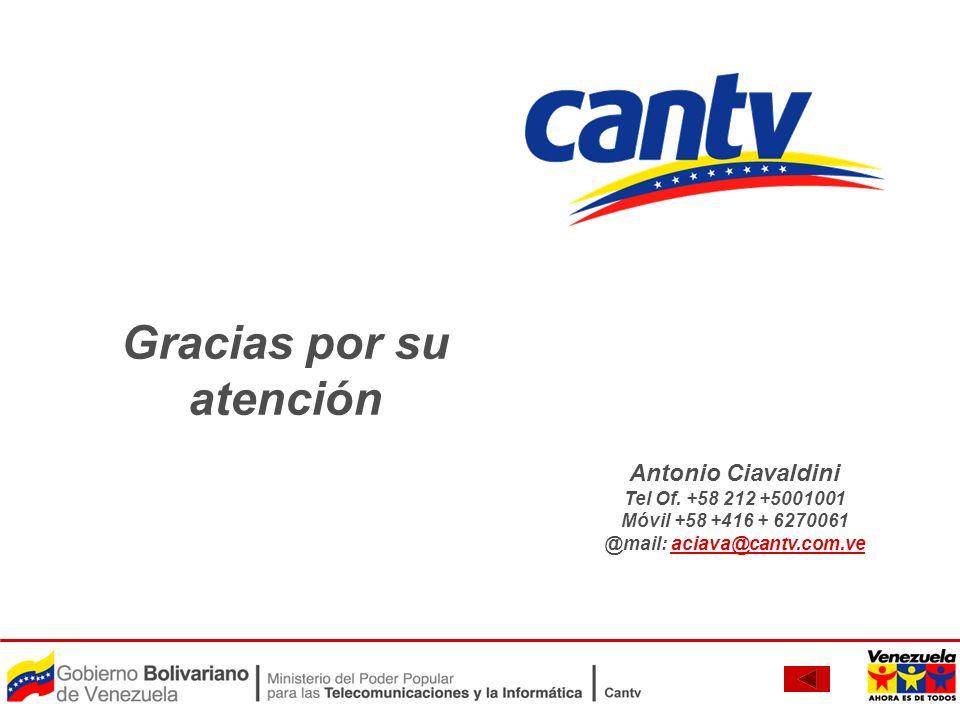 Gracias por su atención @mail: aciava@cantv.com.ve
